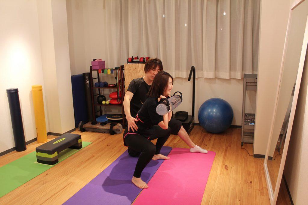 脚のトレーニング中写真